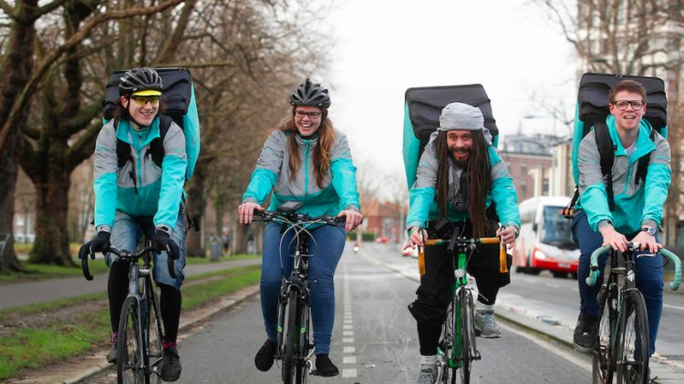 Deliveroo riders want more investment in cycling infrastructure in Australian cities